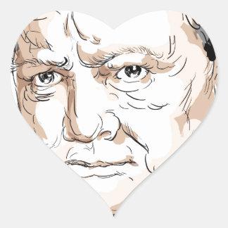 Winston Churchill Heart Sticker