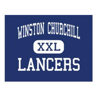 Winston Churchill - Lancers - High - Eugene Oregon Postcard