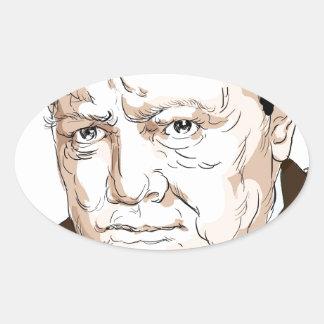 Winston Churchill Oval Sticker