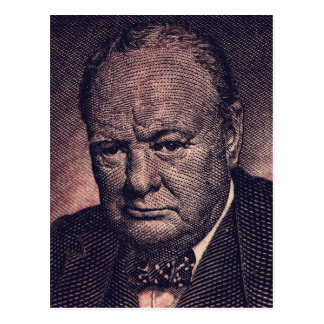 Winston Churchill postcard