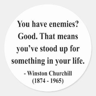 Winston Churchill Quote 3a Classic Round Sticker