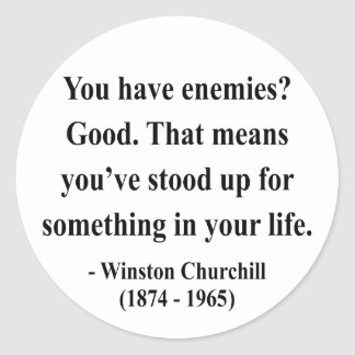 Winston Churchill Quote 3a Round Sticker