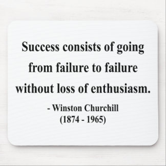 Winston Churchill Quote 5a Mouse Pad