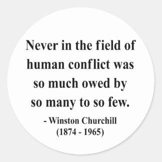 Winston Churchill Quote 8a Classic Round Sticker