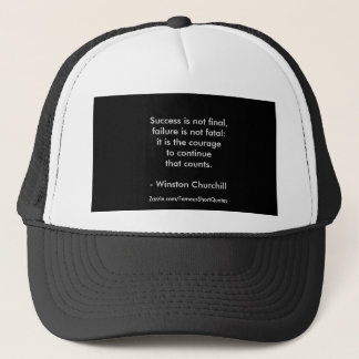 Winston Churchill Quote; Success 2.0 Trucker Hat