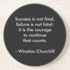 Winston Churchill Quote; Success Coaster