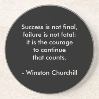 Winston Churchill Quote; Success Coaster