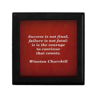 Winston Churchill Quote; Success Gift Box