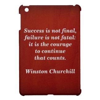 Winston Churchill Quote; Success iPad Mini Case
