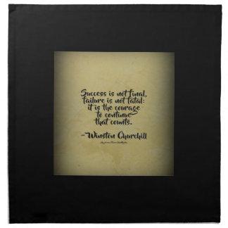 Winston Churchill Quote; Success Napkin