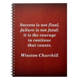 Winston Churchill Quote; Success Notebook