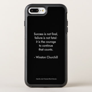 Winston Churchill Quote; Success OtterBox Symmetry iPhone 8 Plus/7 Plus Case