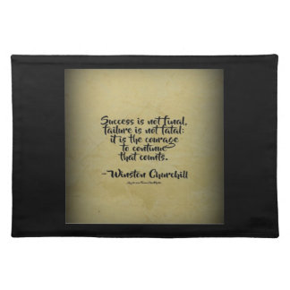 Winston Churchill Quote; Success Placemat
