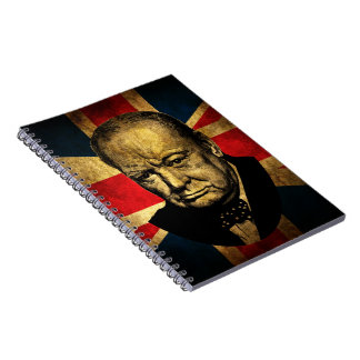 Winston Churchill Spiral Notebook