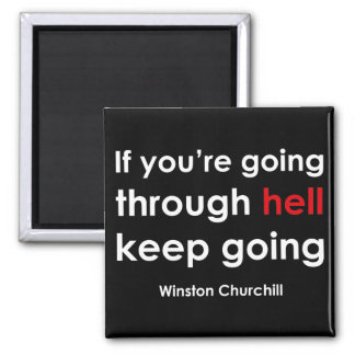 Winston Churchill Square Magnet
