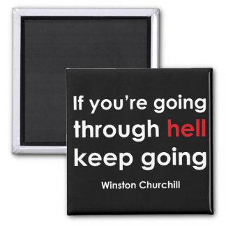 Winston Churchill Square Magnet