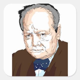 Winston Churchill Square Sticker