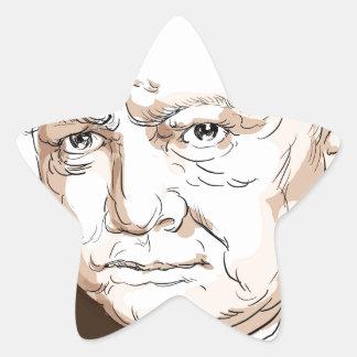 Winston Churchill Star Sticker