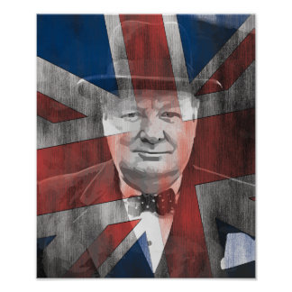 Winston Churchill Union Jack Poster