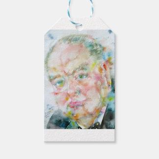 winston churchill - watercolor portrait.2 gift tags