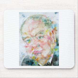winston churchill - watercolor portrait.2 mouse pad