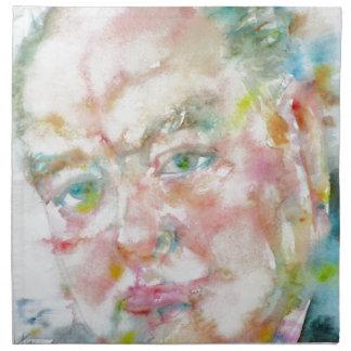 winston churchill - watercolor portrait.2 napkin