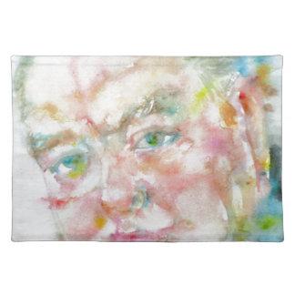winston churchill - watercolor portrait.2 placemat