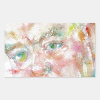 winston churchill - watercolor portrait.2 sticker