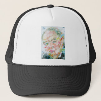 winston churchill - watercolor portrait.2 trucker hat