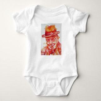 winston churchill - watercolor portrait baby bodysuit