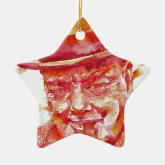 winston churchill - watercolor portrait ceramic ornament