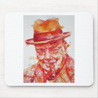 winston churchill - watercolor portrait mouse pad