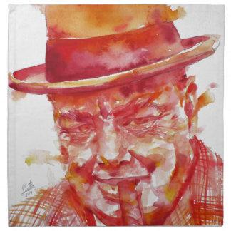 winston churchill - watercolor portrait napkin