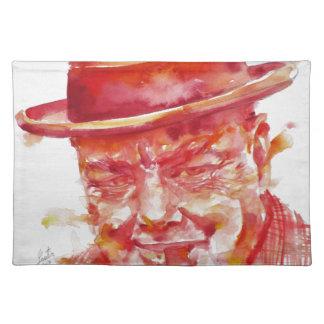 winston churchill - watercolor portrait placemat