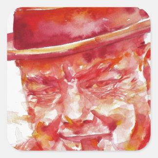 winston churchill - watercolor portrait square sticker