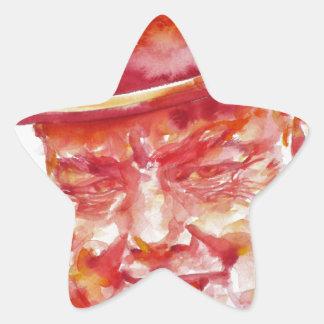 winston churchill - watercolor portrait star sticker