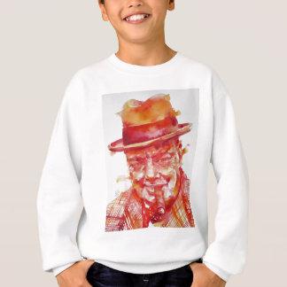 winston churchill - watercolor portrait sweatshirt