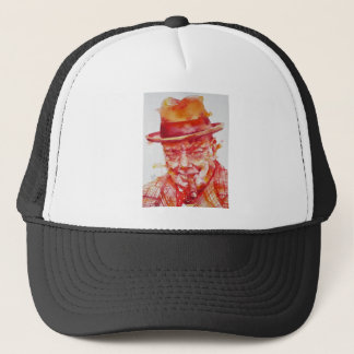 winston churchill - watercolor portrait trucker hat