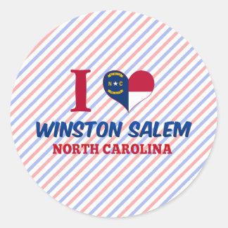 Winston Salem, North Carolina Classic Round Sticker
