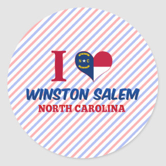 Winston Salem, North Carolina Round Sticker