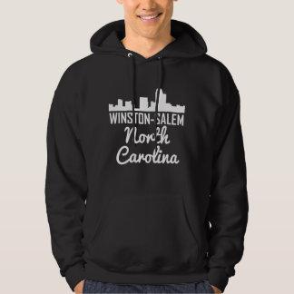 Winston-Salem North Carolina Skyline Hoodie
