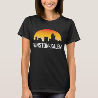 Winston-Salem North Carolina Sunset Skyline T-Shirt