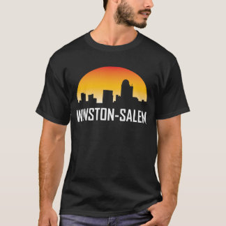 Winston-Salem North Carolina Sunset Skyline T-Shirt