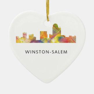 WINSTON - SALEM, NTH CAROLINA SKYLINE - CERAMIC ORNAMENT