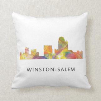WINSTON - SALEM, NTH CAROLINA SKYLINE - THROW PILLOW