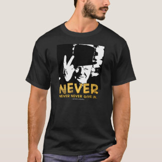 Winston Sez 'Never!' Xtended Back Quote T-Shirt