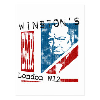 Winston's Bar, London (worn look) Postcard