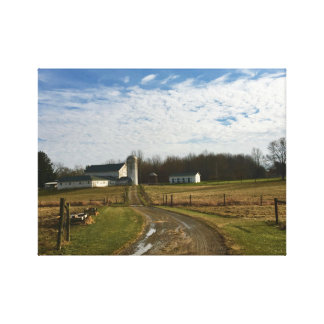 Winter Afternoon Farm Canfield Ohio Canvas Print