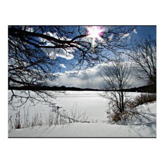 """ Winter Along the Mohawk"" Postcard"