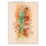 Winter - Alphonse Mucha Art Nouveau Cards
